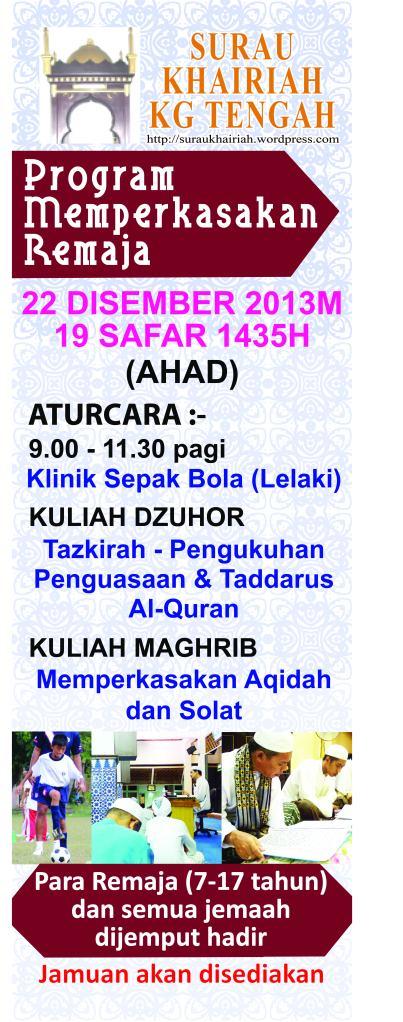 Program remaja 2013v02