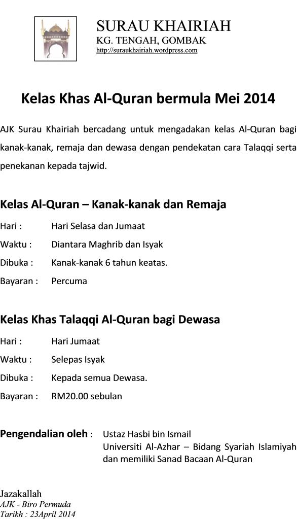 Promo Kelas Al-Quran