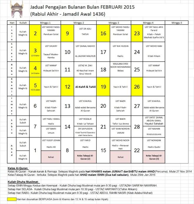 Jadual Feb15