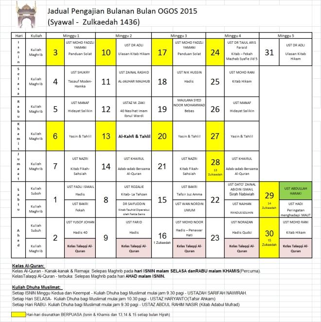 Jadual Ogos15