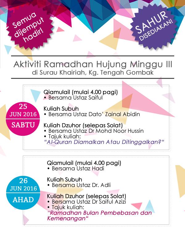 Ramadan weekend 3