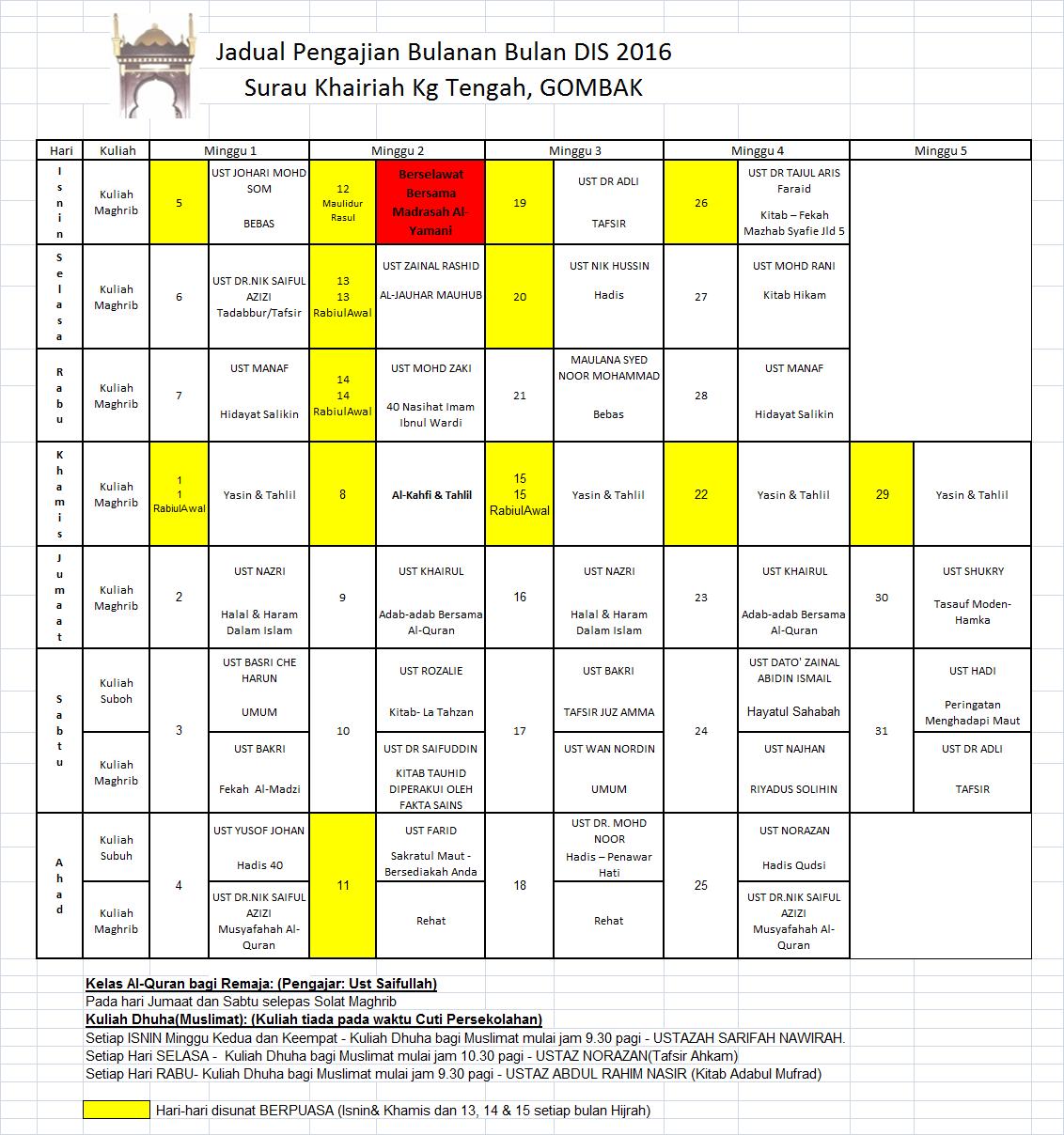 jadual-pengajian-dis-2016